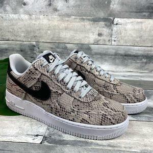 Nike Air Force 1 07 premium sneaker shoe snakeskin